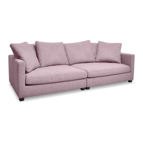 Różowa sofa 3-osobowa Vivonita Hugo