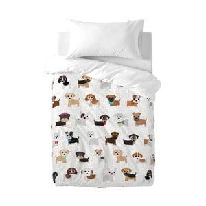 Pościel bawełniana dziecięca z poszewką na poduszkę Mr. Fox Dogs, 100x120 cm