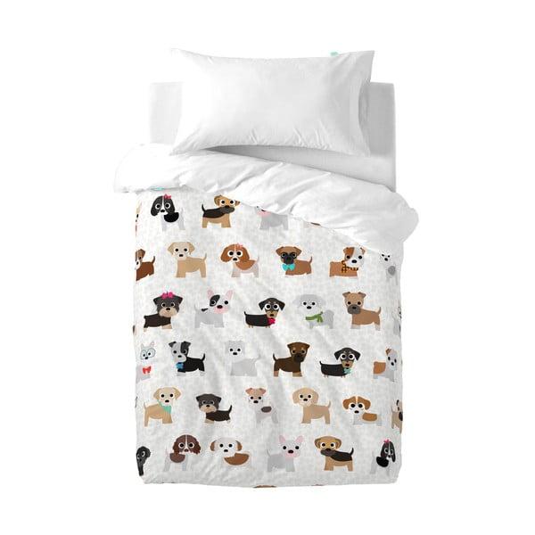 Bawełniana pościel dziecięca z poszewką na poduszkę Mr. Fox Dogs, 100 x 120 cm