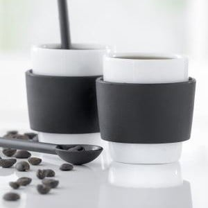 Zestaw dwóch kubeczków do kawy Steel Function Milano