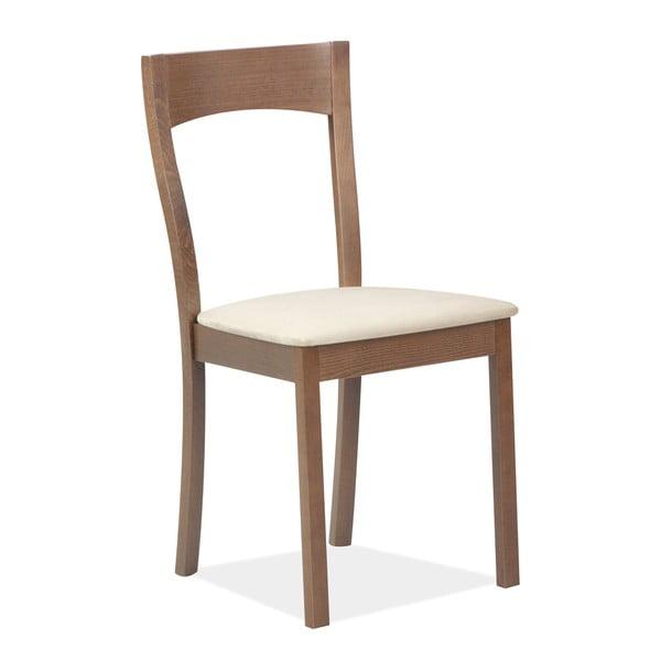 Krzesło Teddy, ciemne drewno