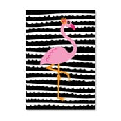 Plakat Striped Flamingo