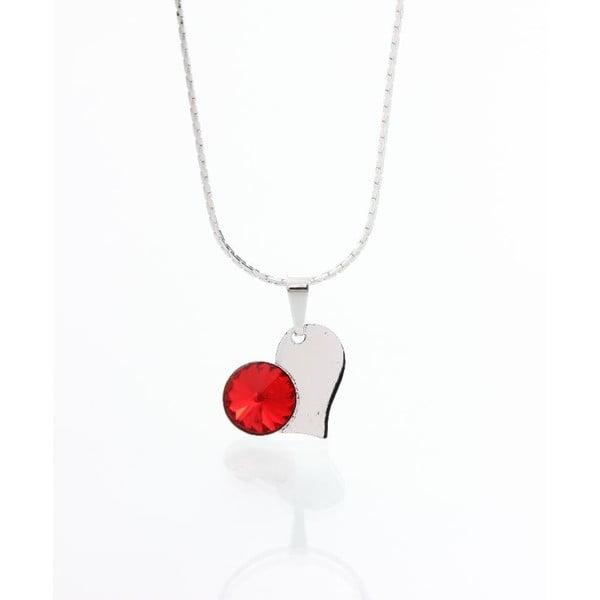 Czerwony naszyjnik z kryształami Swarovskiego Yasmine Heart
