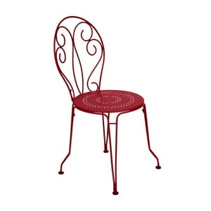 Makowe krzesło metalowe Fermob Montmartre