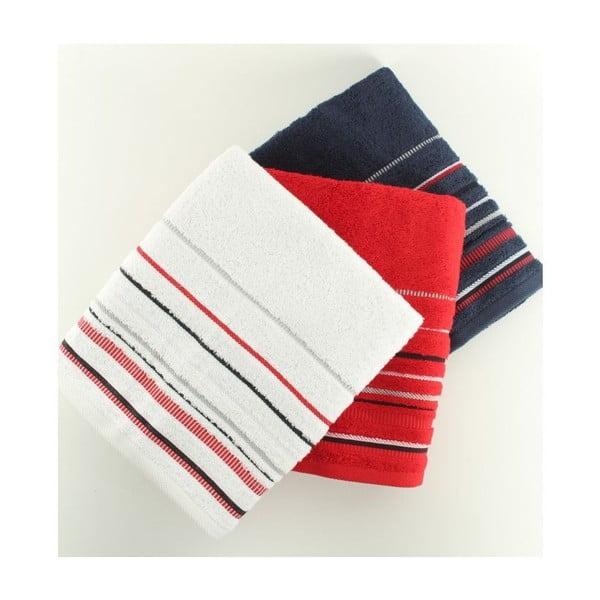Komplet 2 ręczników US Polo Hand White/Red/navy, 50x90 cm