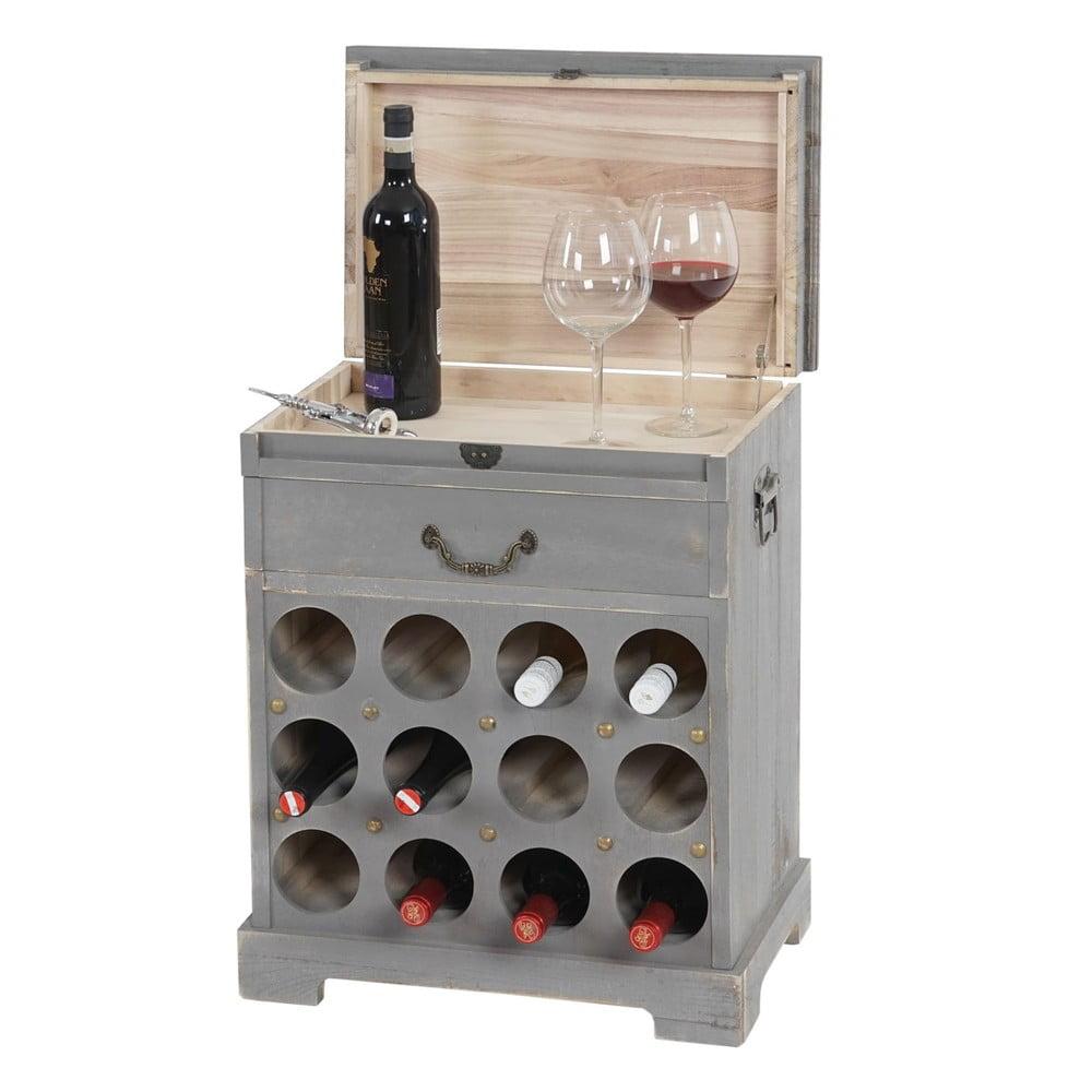 stojak na wino 12 butelek shabby szary bonami. Black Bedroom Furniture Sets. Home Design Ideas