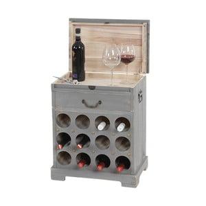 Stojak na wino (12 butelek) Shabby, szary