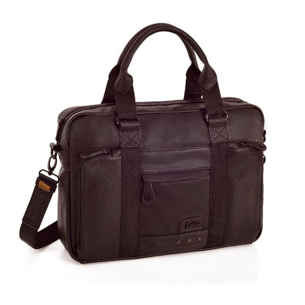 Torba na notebook Lois Dark Brown, 40x28 cm