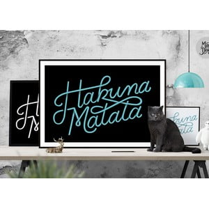 Plakat Hakuna Matata Black, A3