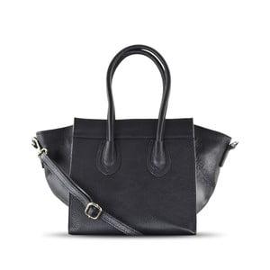 Skórzana torebka Rose, czarna
