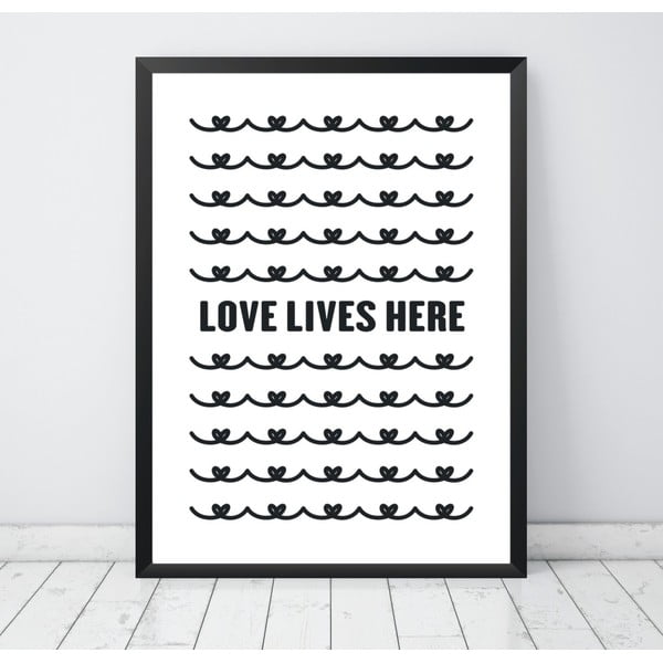Plakat Nord & Co Love Lives Here, 40 x 50 cm