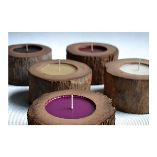 Palmowa świeczka Legno Black Senses o zapachu lilii wodnej, 80 godz.