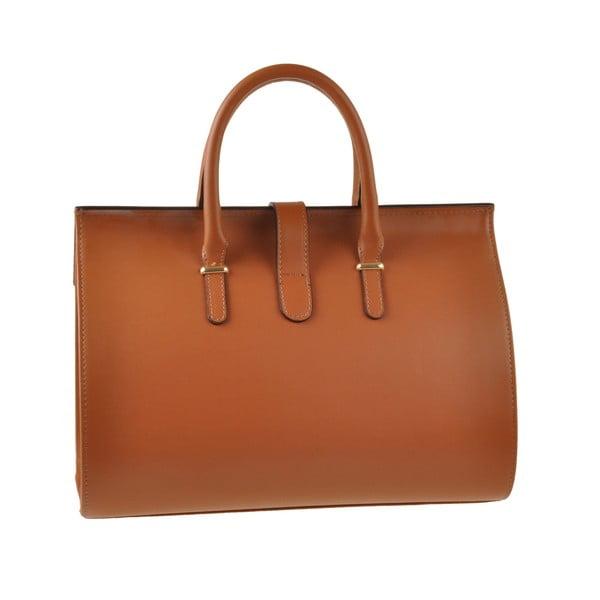 Skórzana torebka Emilio Masi Dabo, karmelowa