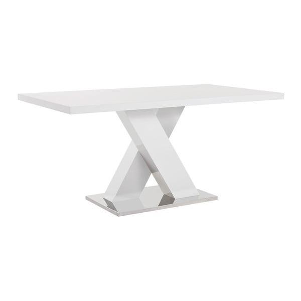 Biały stół z wysokim połyskiem Støraa Camarque