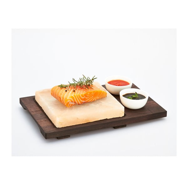 Taca z płytą solną i miskami Salt Plate, 38x27 cm
