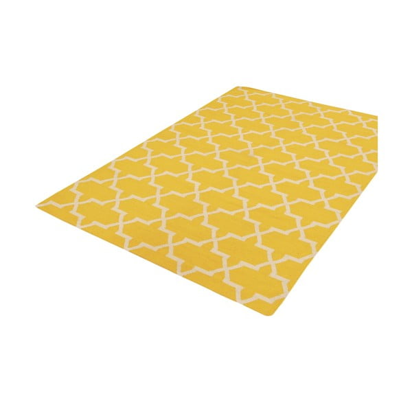 Ręcznie tkany dywan Kilim Design One Yellow, 160x230 cm