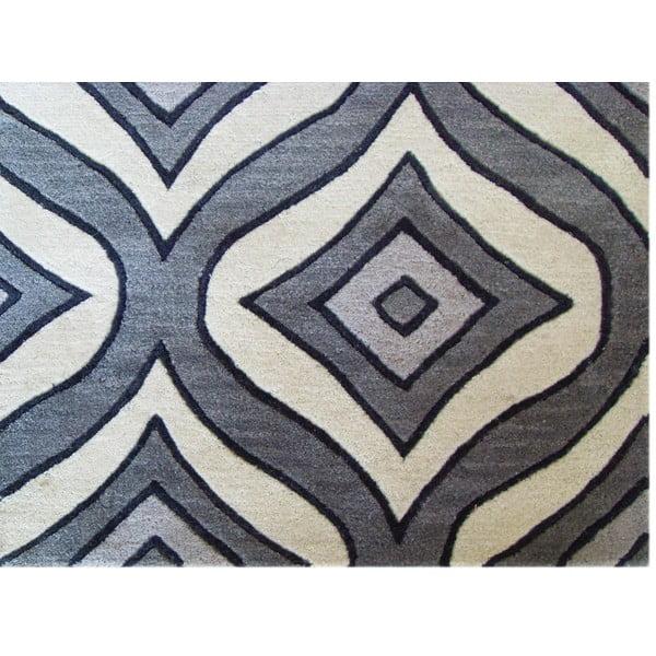 Szary dywan tuftowany ręcznie Bakero Greco, 122x183 cm
