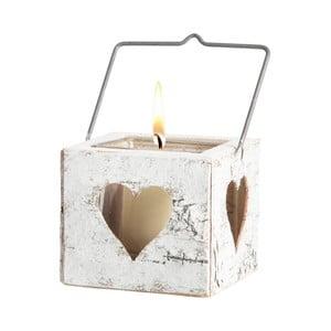 Lampion z drewna brzozowego Brandani Heart