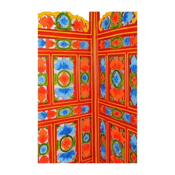 Parawan Orient 204x181 cm, pomarańczowy