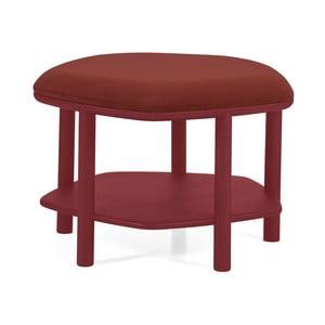 Czerwony taboret z drewna jesionowego Harto Abel, ⌀55cm