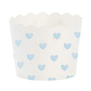 Papierowe foremki na muffiny Blue Heart, 24 szt.