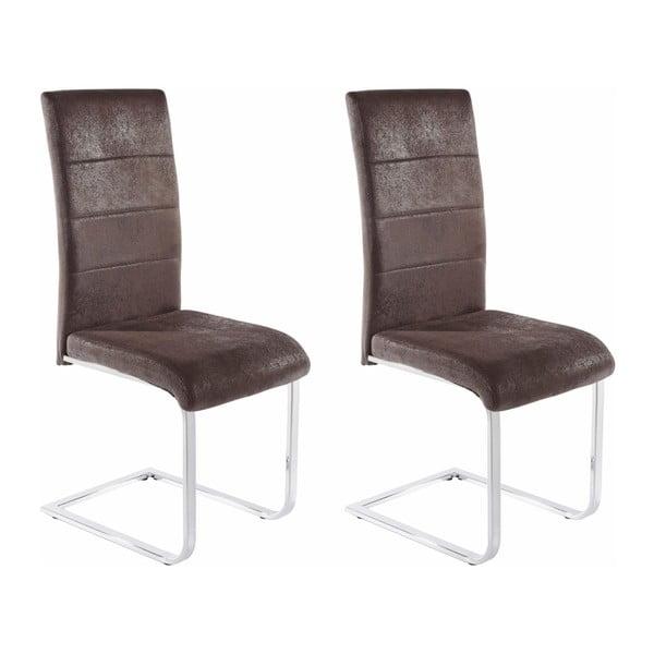 Zestaw 2 antracytowych krzeseł Støraa Kosuma