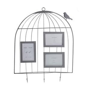 Wisząca dekoracja z ramkami na zdjęcia Ptaszek w klatce