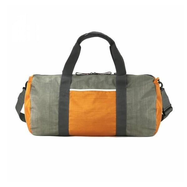 Torba podróżna Dinki Di Duffel M, khaki/pomarańczowa