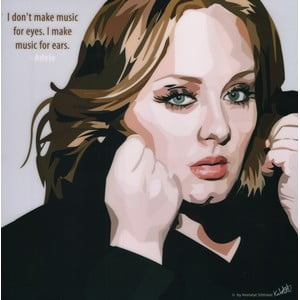 "Obraz ""Adele - I don't make music for eyes, I make music for ears"""
