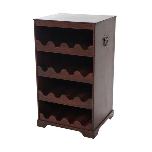 Brązowy stojak na wino (16 butelek) Mendler Shabby Colonial, 66 cm