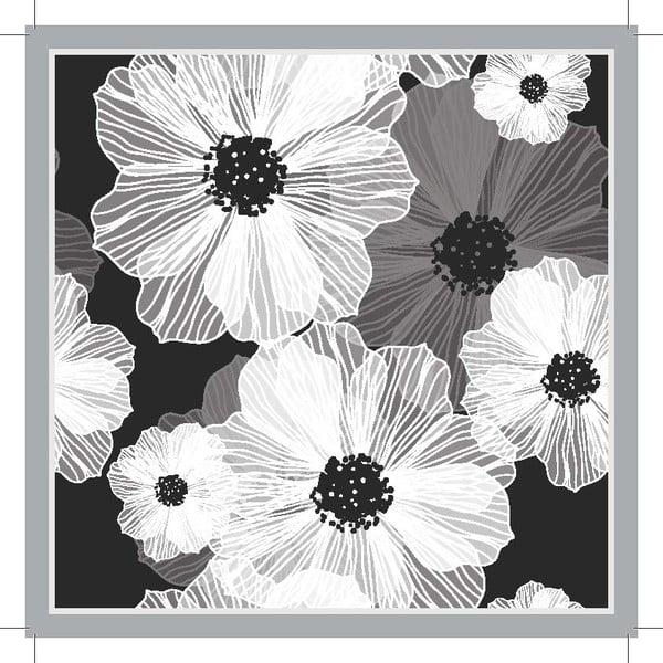 Zestaw 2 mat stołowych Grey Flower, 20x20 cm