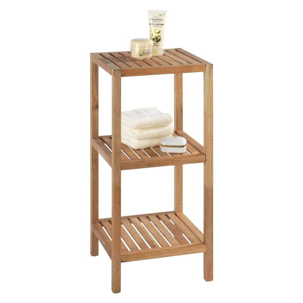 Drewniany regał łazienkowy z drewna orzechowego z 3 półkami Wenko Norway