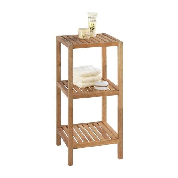 Drewniana szafka łazienkowa z drewna orzechowego z 3 półkami Wenko Norway