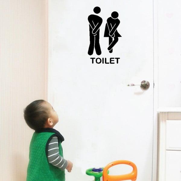 Naklejka dekoracyjna Toilet, 13x18 cm