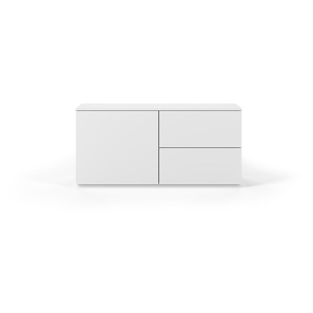 Biała komoda z drzwiczkami i szufladami TemaHome Join, 120x54 cm