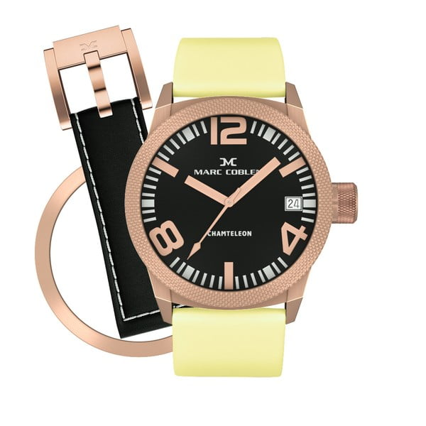 Zegarek damski Marc Coblen z dodatkowym paskiem i obręczą P117