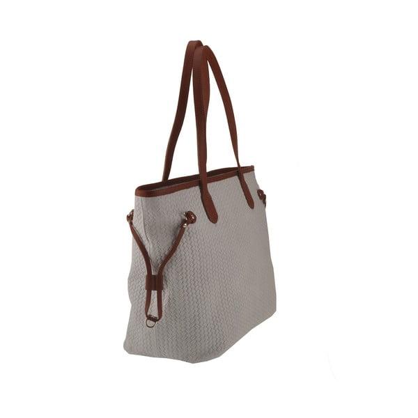 Skórzana torebka Merga, jasnoszara