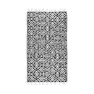 Czarny ręcznik hammam Kate Louise Bianca, 165x100cm