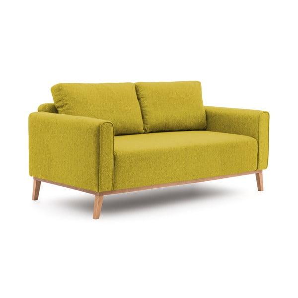 Limonkowa sofa trzyosobowa VIVONITA Milton