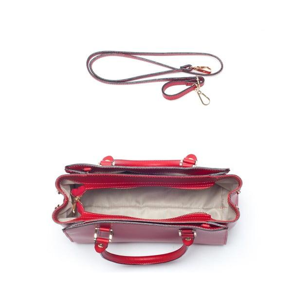 Skórzana torebka Mangotti 3040, czerwona