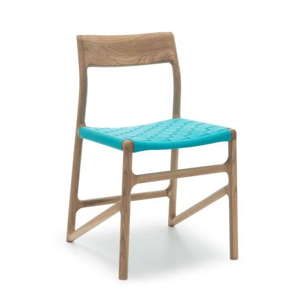 Krzesło Fawn White Pigment Gazzda, niebieskie