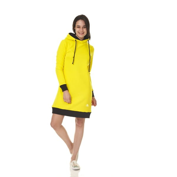 Domowa długa bluza Streetfly Yellow, S