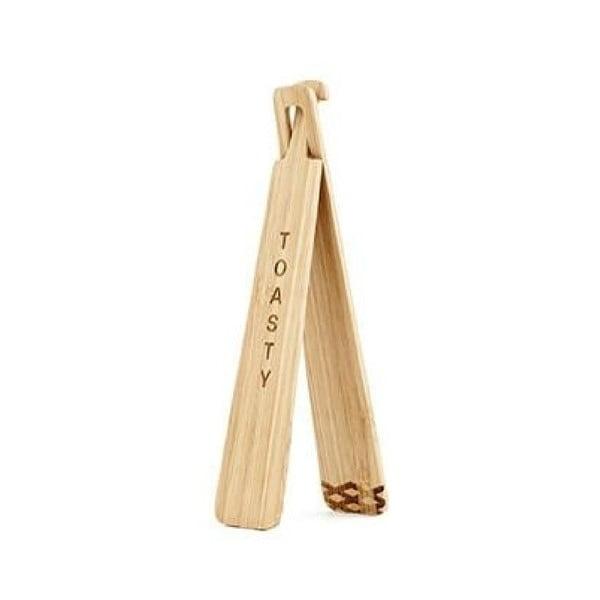 Bambusowe szczypce do tostów Kikkerland Tongs