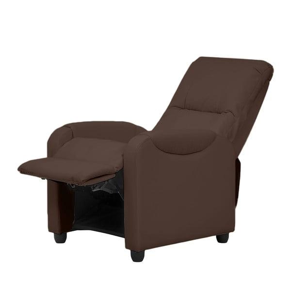 Fotel/leżanka Arton, ciemnobrązowa skóra ekologiczna