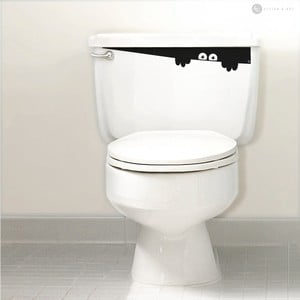 Naklejka Toilet Monster