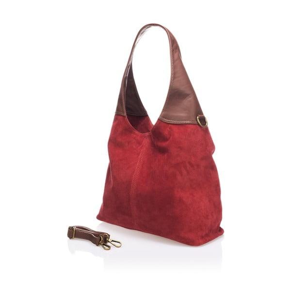 Skórzana torebka Maya, czerwona