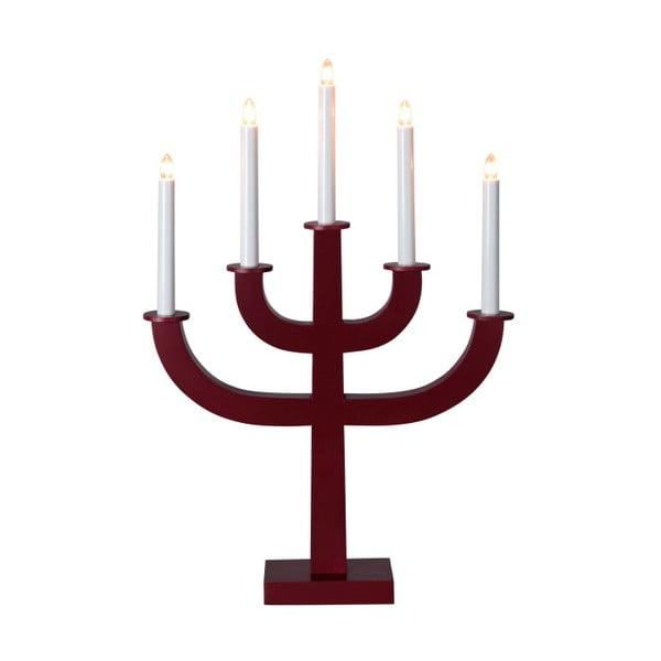 Ciemnoczerwony świecznik LED Sala