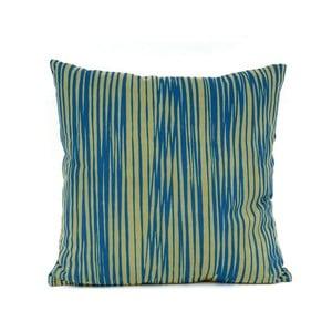 Niebieska poduszka wzorzysta z wypełnieniem Present Time Oblique