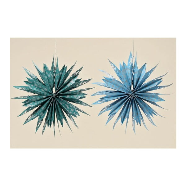 Zestaw 2 dekoracyjnych gwiazd z papieru Holly, 56 cm