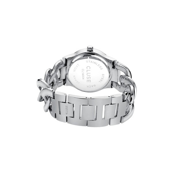 Zegarek damski Elegante Stones Silver/Blue Lagoon, 38 mm